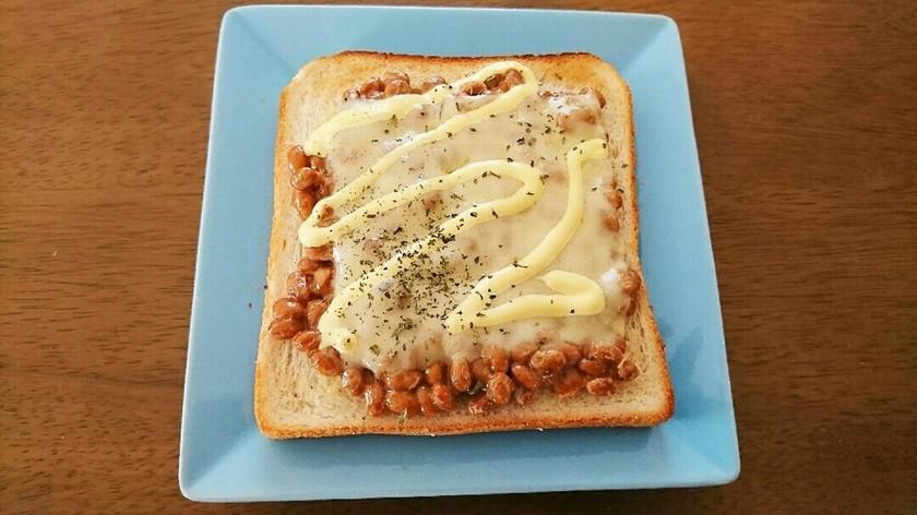 いっぺん食べてみ♪激うま納豆トースト♡