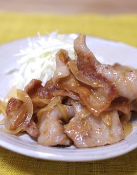 生姜みそぽん酢で★豚バラ肉の生姜焼き