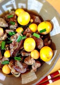 鶏キンカンとレバー、砂肝の煮物