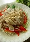 レンジ蒸し鶏胡麻ソースサラダ