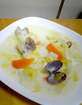 あさりと白菜のクリーム煮