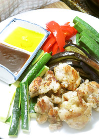 鶏肉と夏野菜のソテー☆中華風甘酢ソース
