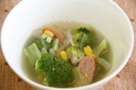 ブロッコリーの生姜スープ