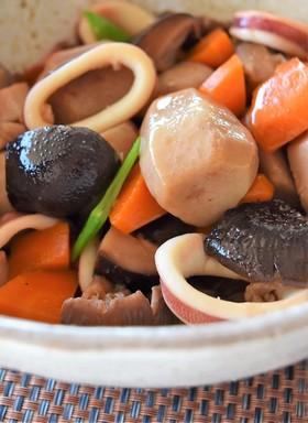 どんこ椎茸と里芋とイカの煮物
