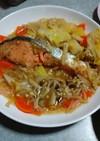 クッキングシートで白菜と鮭のレンジ蒸し