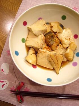 ほっこり♪豆腐と鱈の炊き合わせ