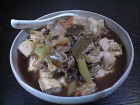 すき焼き風味の肉豆腐