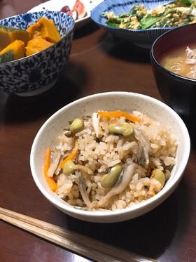 枝豆と舞茸の炊き込みごはん