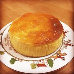 アプリコットジャムのせスフレチーズケーキ