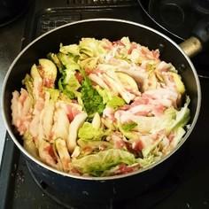白菜・茄子・豚バラのミルフィーユ鍋