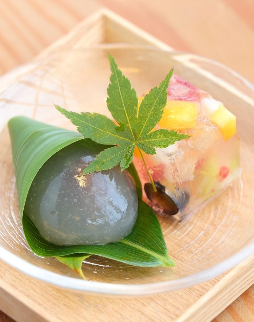 天然水でつくる涼やか和菓子