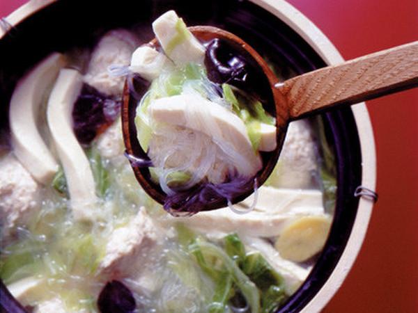 豆腐と鶏だんごの中華スープ