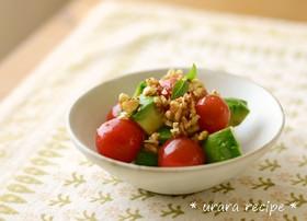 ミニトマトとアボカドの和風マリネ