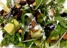 簡単フルーツ系ドレッシングで水菜サラダ