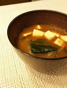 わかめとお豆腐の☆赤味噌のお味...
