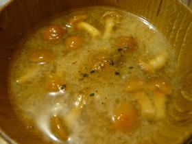 北海道のきのこ汁