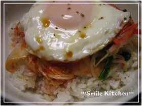 簡単♪激ウマd(。ゝω・´)キムチ丼~♪