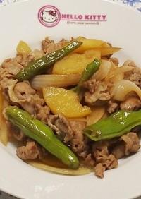豚肉とポテトの甘辛焼き