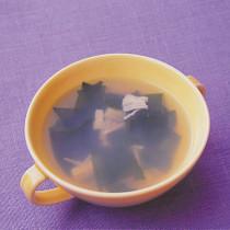 帆立てとわかめのスープ
