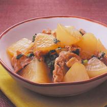 大根と豚肉のオイスターソース煮