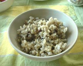 私の主食(発芽玄米十穀ご飯)