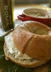昆布ベーグル チーズとマスのディップ