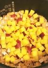 秋の味!さつま芋とおあげの混ぜご飯