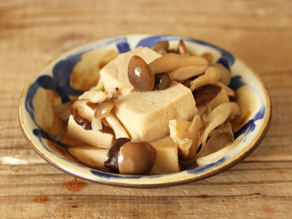 高野豆腐ときのこの煮物
