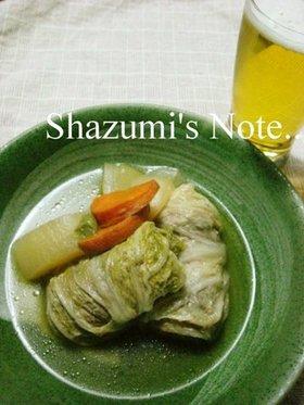 くるくるロール白菜のポトフ風