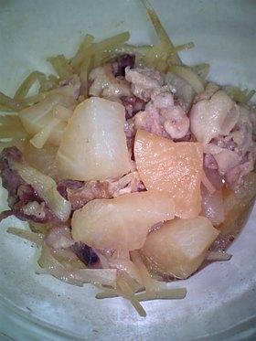 皮も活用!大根と豚肉のコンソメ煮