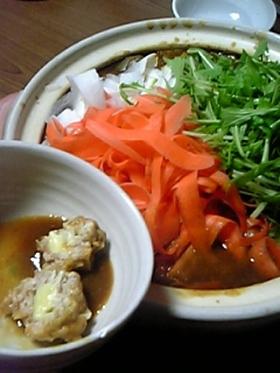 冬野菜と☆自家製ミートボールのカレー鍋♪