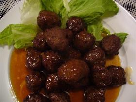甘酢あんかけ肉だんご(中華風)