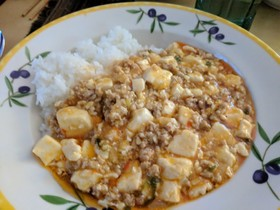我が家の麻婆豆腐(丼)