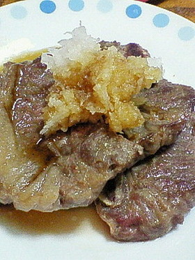 骨付きカルビのステーキ