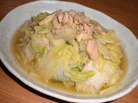白菜とツナの煮浸し