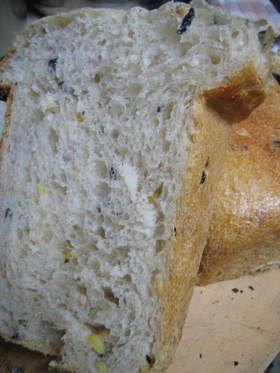 ホシノ天然酵母 ライ麦&黒豆&お餅食パン