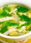 レタスとベーコンの卵スープ