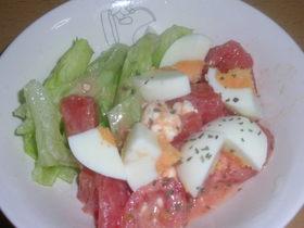 トマトとクリームチーズのサラダ