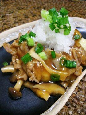 豆腐ステーキ❤きのこの和風味ぽんかけ❤