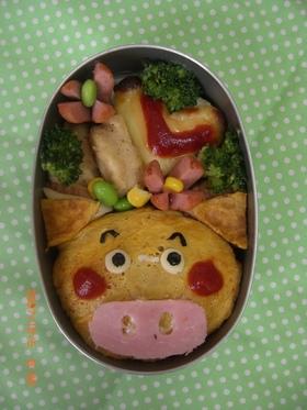 太っちょブタくんのオムオム弁当★キャラ弁