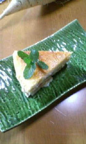 洋ナシのベークドチーズケーキ