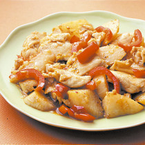 鶏肉と長いものピリ辛炒め