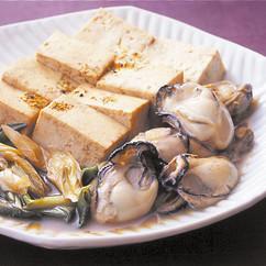 かきと豆腐のすき焼き風
