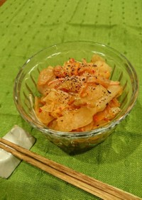 冬瓜とキムチのサラダ