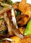 鶏胸肉とししとうの生姜焼き