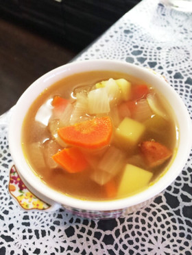 もりもり野菜スープ
