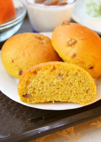 朝食用*HBお任せクルミ入りかぼちゃパン