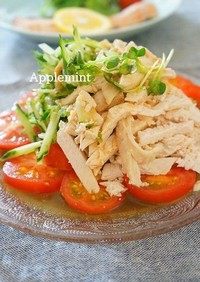 レンジでつくる簡単棒棒鶏サラダ