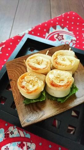 お弁当に☆メープルチーズちくわ。