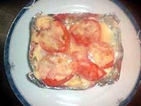 チキンとトマトのホイル焼き
